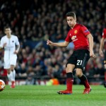 MANCHESTER, ENGLAND - FEBRUARY 12: Ander Herrera of Manchester United during the UEFA Champions League Round of 16 First Leg match between Manchester United (Man U) and Paris Saint-Germain (PSG) at Old Trafford stadium on February 12, 2019 in Manchester, England. (Photo by Jean Catuffe/Getty Images)