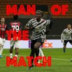 Man of the match pogba milan